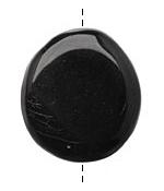 Tagua Nut Black Flat Pebble 35-45x28-37mm