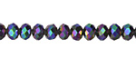 Galactic Crystal Faceted Rondelle 6mm