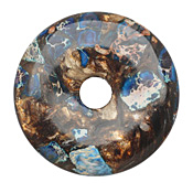 Midnight Blue Impression Jasper & Bronzite Donut 50mm