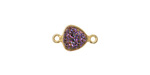 Druzy (metallic purple) Triangle Link in Gold Vermeil 15x9mm