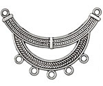 Zola Elements Antique Silver (plated) Braided Arc Focal 50x35mm