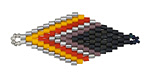 Fire Storm Hand Woven Diamond 43x18mm