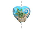 Grace Lampwork Turtle Cove Heart 19-20mm