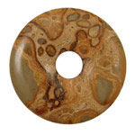 African Brown Rhyolite Donut 45mm