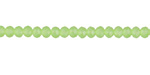 Spring Green (dark) Crystal Faceted Rondelle 3mm