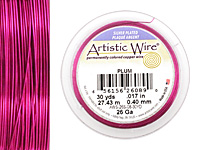 Artistic Wire Silver Plated Plum 26 gauge, 30 yards