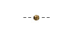 Nunn Design Antique Gold (plated) Faceted Round 4mm