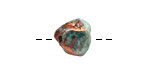 Xaz Raku Green Small Nugget 11-13mm