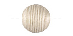 Ivory Thread Wrapped Bead 18mm