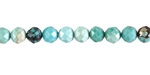Hubei Turquoise Faceted Round 4mm
