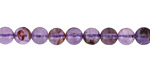 Purple Phantom Quartz Round 6mm