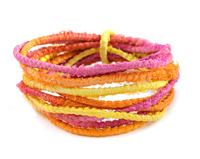 Sunrise 100% Silk Sari Ribbon Cord
