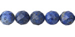 Denim Lapis Faceted Round 10mm