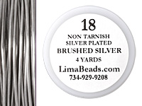Parawire Non-Tarnish Brushed Silver 18 Gauge, 4 Yards