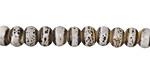 Birch w/ Speckles Banded Porcelain Tumbled Rondelle 5x7mm