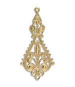 Vintaj Vogue Etruscan Filigree Drop 25x55.5mm