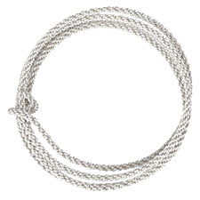 Braided Artistic Wire Tarnish Resistant Silver 10 gauge, 2.5 feet