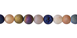 Metallic Luster Mix (matte) Druzy Round 6mm