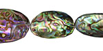 Abalone Freeform Puff Oval 20-30x13-18mm