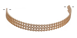 Zola Elements Matte Gold (plated) Lattice Lace Choker Focal 91x11mm