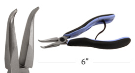 Lindstrom RX Bent Chain Nose Pliers