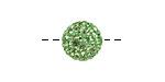 Peridot Pave (w/ Preciosa Crystals) Round 12mm