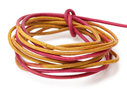 Natural Sunset Leather Cord 2mm