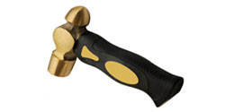 Brass Hammer 1 lb (w/ short handle)