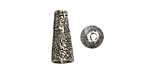 Saki White Bronze Etched Cone 7x18mm