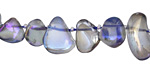 Blue AB Luster Quartz Tumbled Drops 8-14x10-18mm