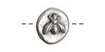 Nunn Design Antique Silver (plated) Round Bee Button 17x18mm