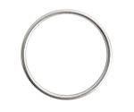 Nunn Design Antique Silver (plated) Open Frame Large Hoop 35mm