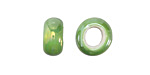 Spring Green Large Hole Ceramic Rondelle 12-13mm