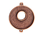 Nunn Design Antique Copper (plated) Grande Circle Bezel Toggle Link 39x33mm