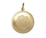 Vintaj Vogue Monogram Medallion 25x34mm