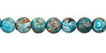 Turquoise Orbicular Jasper Round 6-6.5mm