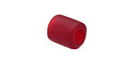 Ruby Red Recycled Glass Large Hole Tube 12mm