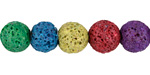 Rainbow Lava Rock Unwaxed Round 10mm