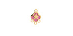 Orchid Enamel Gold (plated) Stainless Steel Star Chandelier 1-3 Link 11x7mm