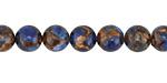Cobalt Opal w/ Bronzite Marbled Quartz Round 8mm