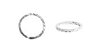 Nunn Design Sterling Silver (plated) Hammered Jump Ring 13mm