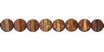 Tibetan (Dzi) Agate Matte Rust Banded Round 6mm