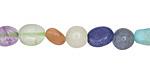 Multi Stone (amazonite, prehnite, moonstone) Tumbled Nugget 6-10mm