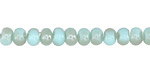 Blue Opal w/ Light Bronze Luster Crystal Nugget Rondelle 6mm