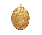 Brass Oval Baroque Heirloom Locket 22x31mm