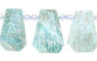 Brazil Amazonite Graduated Faceted Flat Teardrop 16-20x22-29mm
