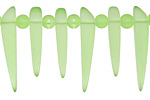 Peridot Recycled Glass Tusk 4-6x22-30mm
