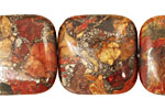 Red Creek Jasper w/ Pyrite Puff Square 25mm