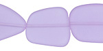 Periwinkle Recycled Glass Flat Freeform 21-23x18-20mm