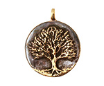 Green Girl Bronze Tree Pendant 34x28